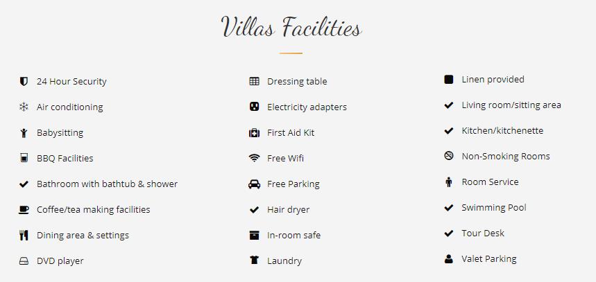 Fasilitas Benoa Bay Villas