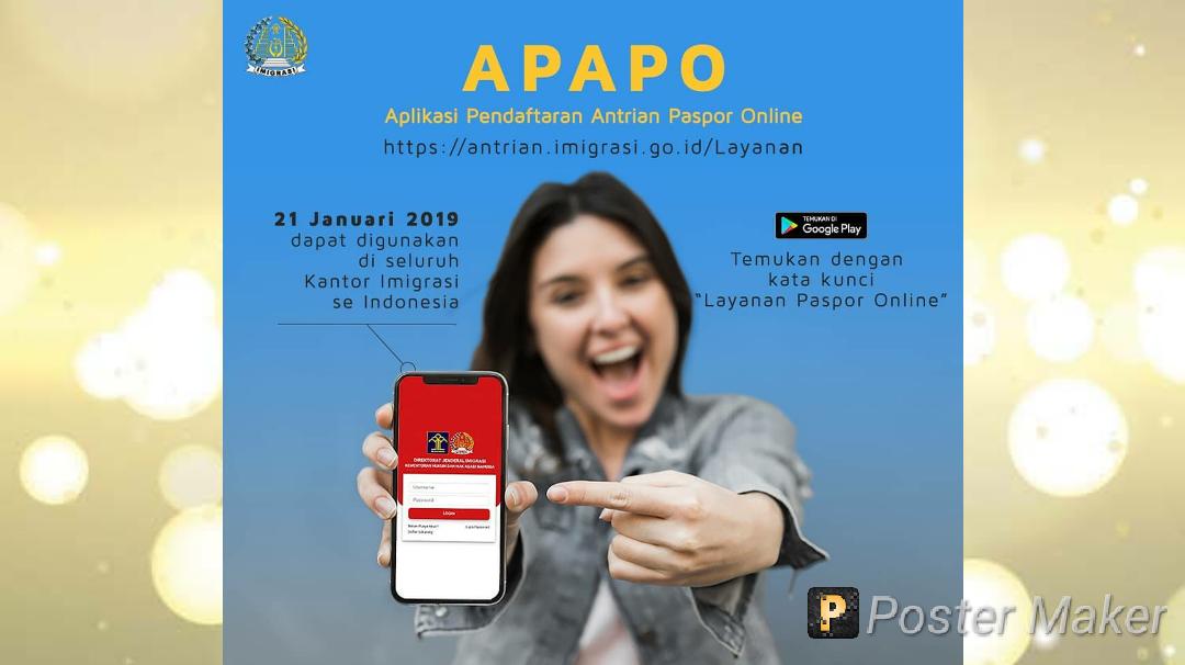 Mau Bikin Paspor? Gunakan Aplikasi Pendaftaran Antrian Paspor Online (APAPO)